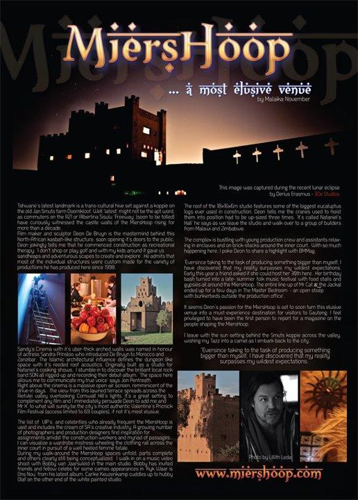 Miershoop - Pretoria Castle - Gregos Music - 1000 Words for Water